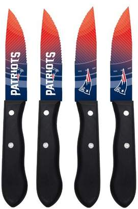 Sports Vault NFL 4 Piece Steak Knife Set NFL Team: New England Patriots