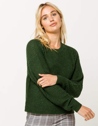 Ivy & Main Basic Emerald Womens Sweater