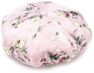 MonnaLisa floral-print beret