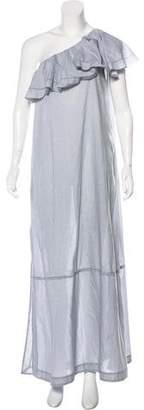 Lisa Marie Fernandez One-Shoulder Ruffle-Accented Dress