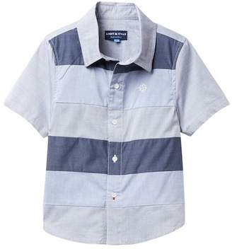 Andy & Evan Blue Color-Blocked Short Sleeve Shirt (Toddler & Little Boys)