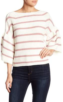 Fate Colorblock Stripe Knit Sweater