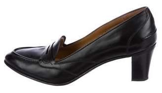 Gravati Leather Round-Toe Pumps