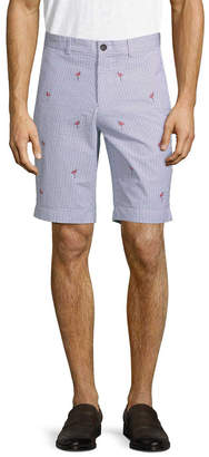 Brooks Brothers Seersucker Embroidered Bermuda Short