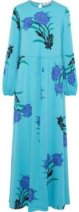 Floral-Print Silk-Blend Maxi Dress