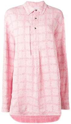 J.W.Anderson women's bubblegum logo grid tunic linen shirt