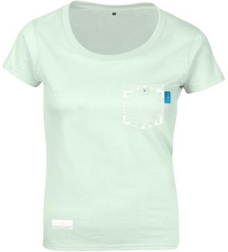 Anchor & Crew Honeydew Green Explorer Print Organic Cotton T-Shirt (Womens)