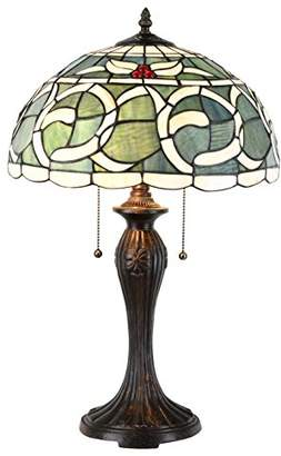 Tiffany & Co. Zhimei Table Lamp, E27, 22 W, Pastel Green