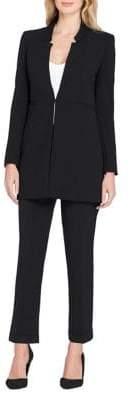 Tahari Arthur S. Levine Star Neck Jacket and Pant Suit
