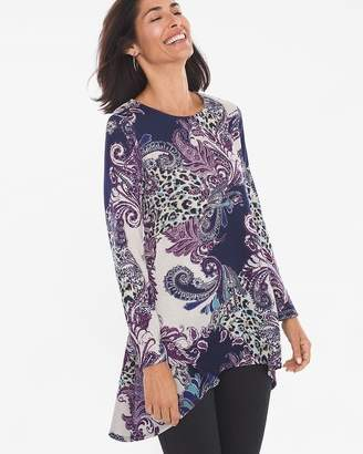 fe2270fe74c Chico s Chicos Paisley Button-Back Tunic