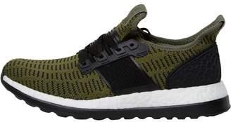 3071d27ca353d2 adidas Mens Pure Boost ZG Primeknit Neutral Running Shoes Base Green Core  Black Vivid Red