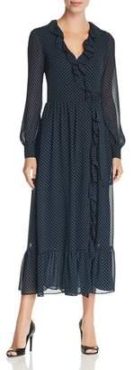 MICHAEL Michael Kors Printed Ruffle Midi Wrap Dress - 100% Exclusive