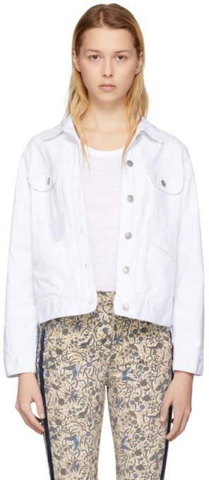 White Denim Fofty Jacket