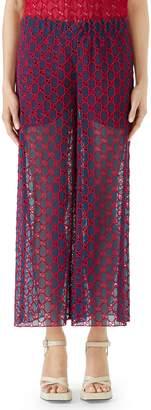 Gucci GG Macrame Wide Leg Pants