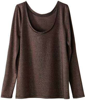 La Redoute Collections Metallic Long Sleeved T-Shirt