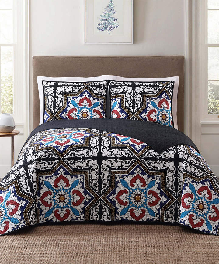 Style 212 Blue Sheffield Quilt Set