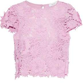 Milly Baby Floral-Appliqud Guipure Lace Top