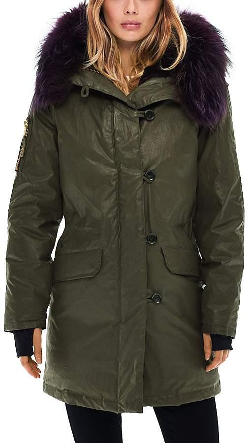 SAM. Double Downtown Fur Trim Down Jacket - 100% Exclusive