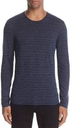 John Varvatos Collection Striped Long Sleeve Crewneck Sweater