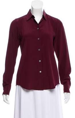 Marc Jacobs Silk Button-Up Top
