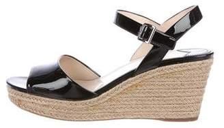 Prada Espadrille Wedge Sandals