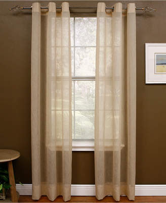 cream curtains sheer open linen curtain weave in drapes