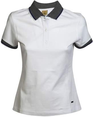 Fay Striped Trim Polo Shirt
