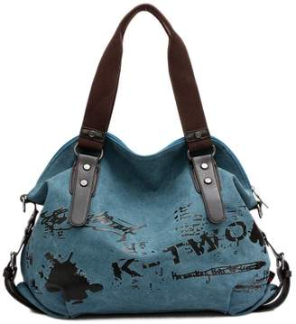cc3d5e353725 K2 Women Canvas Handbag Shoulder Bag Casual Vintage Hobo Top Handle Tote  Crossbody Shopping Bags