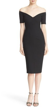 Women's Cinq A Sept 'Jolie' Off The Shoulder Sheath Dress $385 thestylecure.com