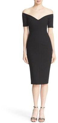 Women's Cinq A Sept 'Jolie' Off The Shoulder Sheath Dress $385 thestylecure.com