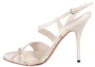 Gucci Snakeskin Ankle-Strap Sandals