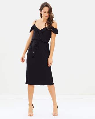 Oasis Ruffle Wrap Midi Dress