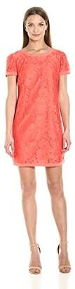 Donna Morgan Women's Easy Shift Lace Dress with Combo