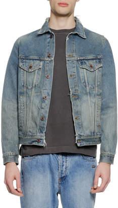 Off-White Off White Men's Vintage-Wash Denim Jacket