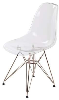 NPD Allen Modern Plastic Side Chair (Set of 4), Multiple Colors