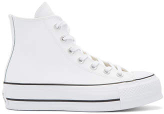 Converse White Chuck Taylor All-Star Lift High-Top Sneakers