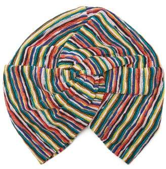 Missoni Mare - Riga Striped Knit Turban Hat - Womens - Multi