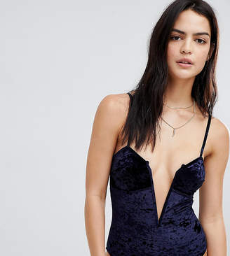 Wolfwhistle Wolf & Whistle Velvet Strappy Swimsuit