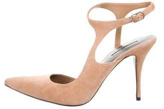 Alexander Wang Pointed-Toe Suede Pumps