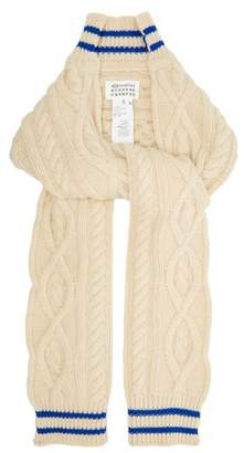 Maison Margiela Cable Knit Cricket Inspired Scarf - Womens - Beige