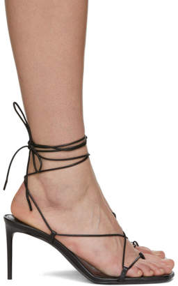 Saint Laurent Black Paris Heeled Sandals