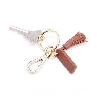 Royce Leather Royce New York Leather Mini Tassel Key Fob with Gold Hardware