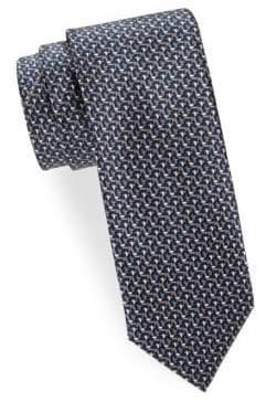 Brioni Geo Stairs Printed Tie