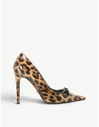 Dune Animal bow detail court shoes