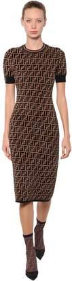 Fendi Logo Intarsia Knit Dress