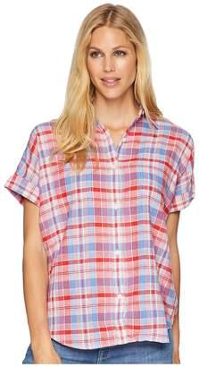 Chaps Plaid Dolman-Sleeve Top Women's Clothing