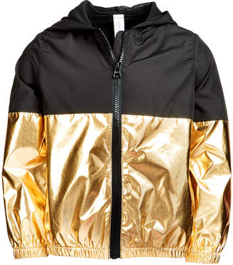 Ideology Big Girls Metallic Colorblocked Zip-Up Hooded Jacket, Created for Macy's