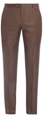 Hickey Freeman B Series Flat-Front Wool Pants