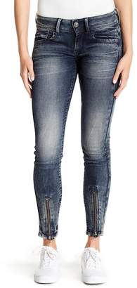 G Star Lynn Zip Ankle Skinny Jeans