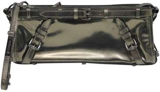 Burberry Metallic Patent leather Clutch Bag